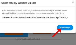 Tawaran Paket Starter Website Builder Weebly