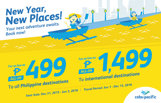 Cebu Pacific Seat Sale Promo 2016