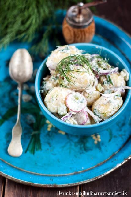 ziemniaki, salatka, obiad, grill, przekaska, bernika, kulinarny pamietnik