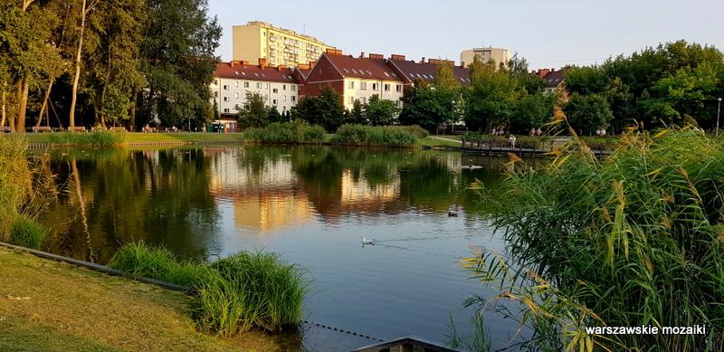 Warszawa Warsaw Bielany zbiornik wodny Wawrzyszew teren zielony