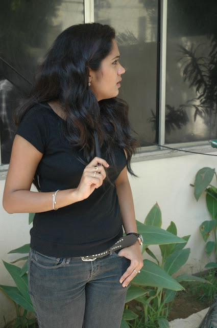 ACTRESS ANANYA IN T-SHIRT AND JEANS