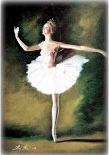 bailarina em óleo sobre tela