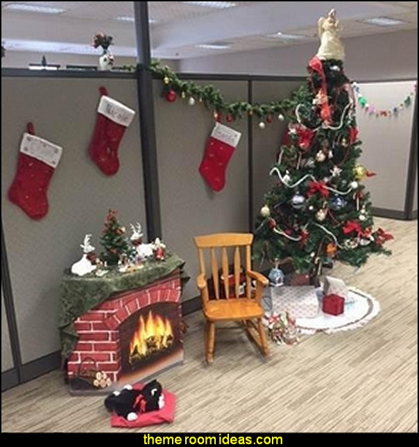 Brick Fireplace Stand-Up Party Accessory   office cubicle decorating ideas - cubicle decorating - work desk decorations - cubicle decoration themes - cubicle decor - office birthday party cubicle decorations - office birthday decorating kit - glitter office supplies - desktop organizers