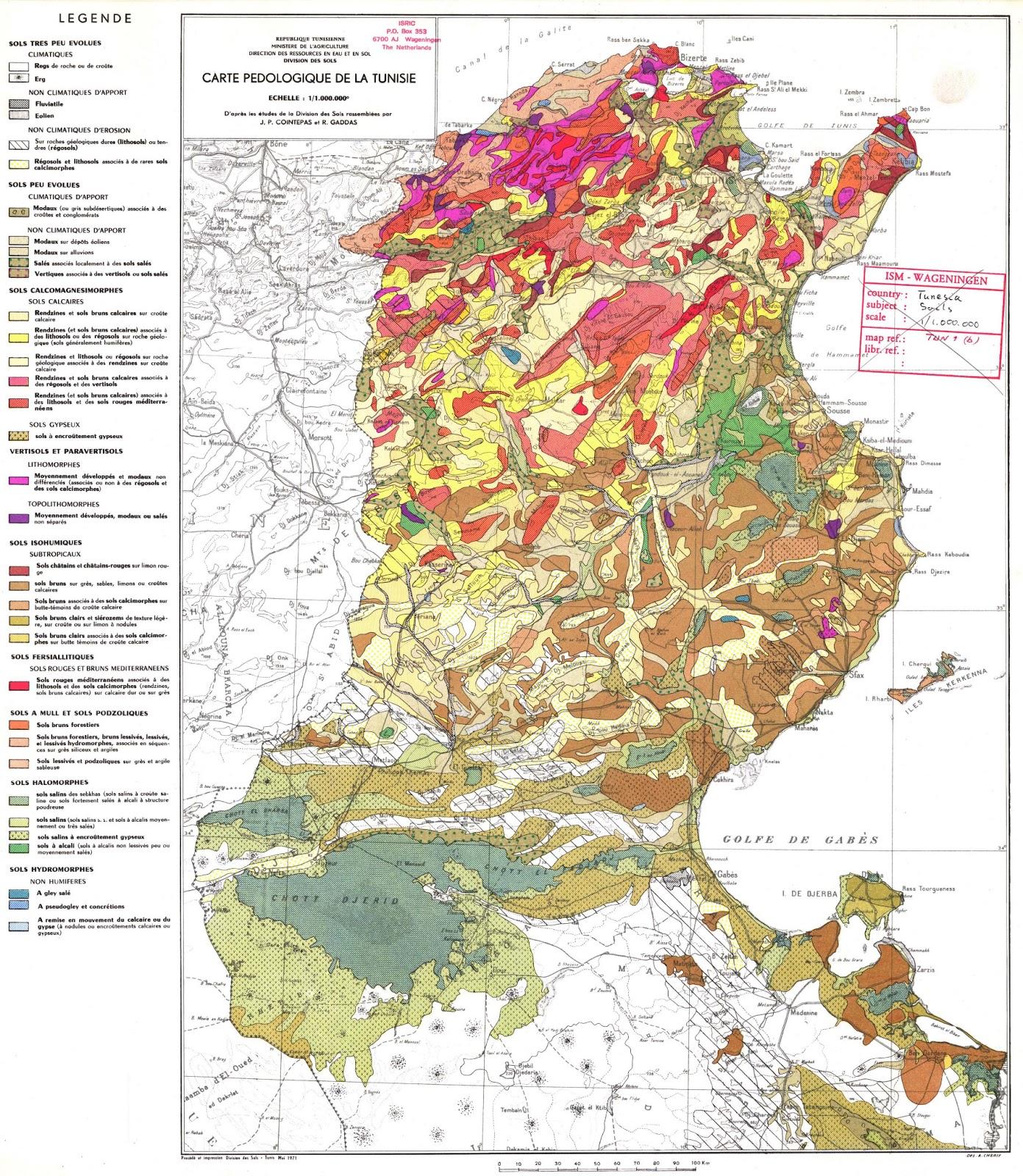 Tunisia | Mapas Geográficos da Tunisia