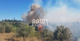 Μεγάλη πυρκαγιά στο Μαζαράκι Πηνείας