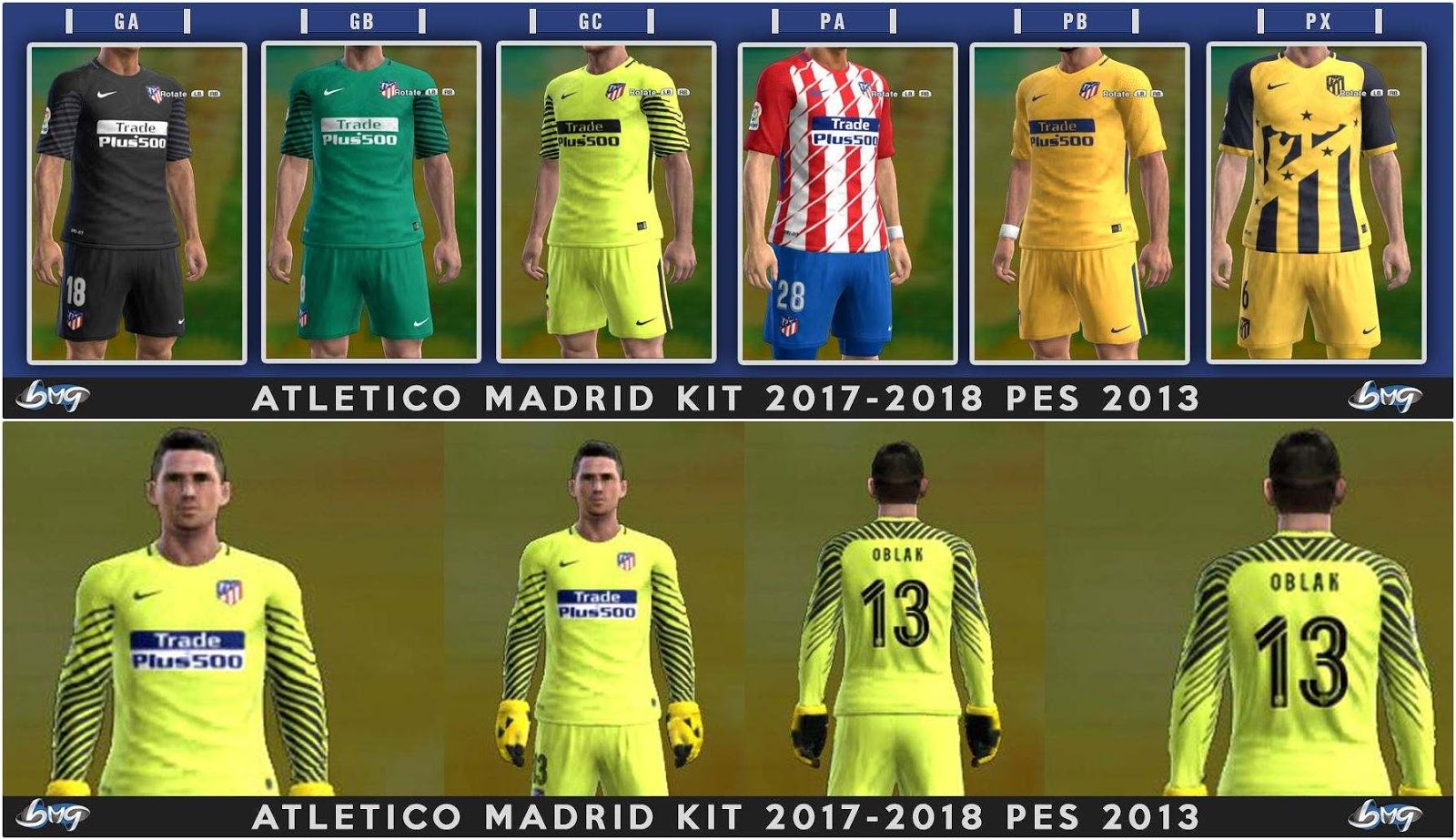 f4aaa256c PES 2013 Atletico Madrid Full GDB Kits 2017-2018