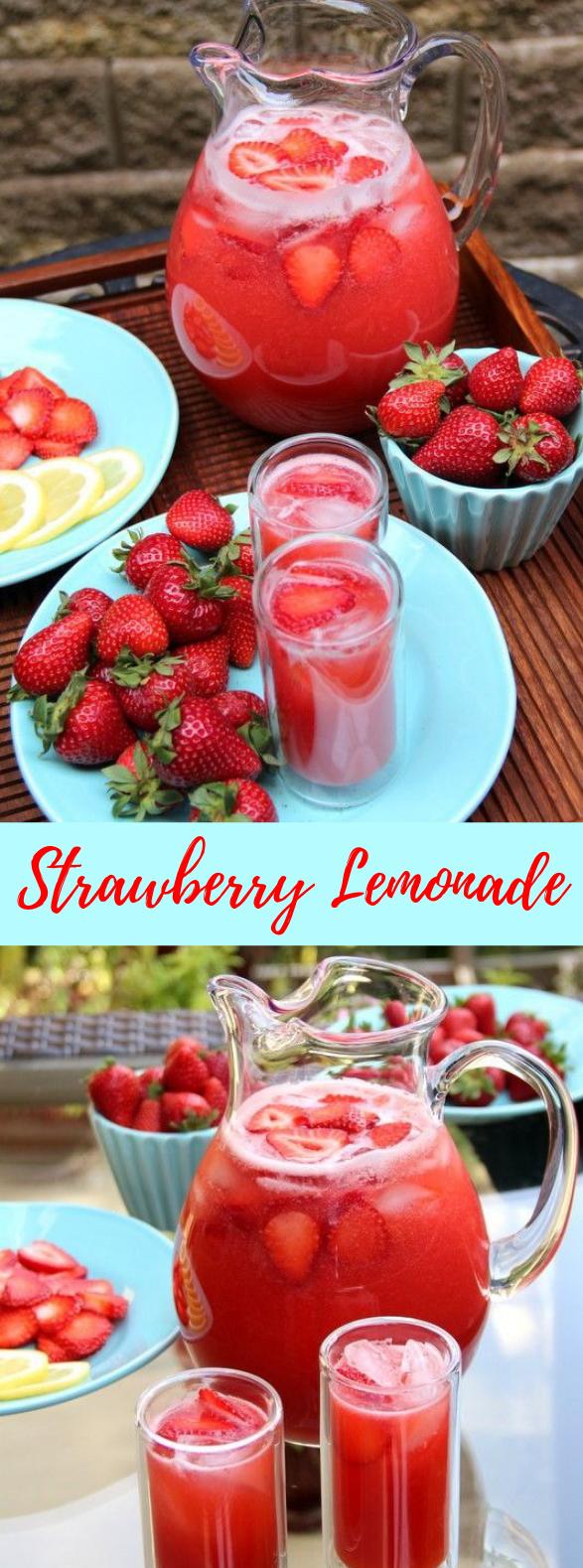 Strawberry lemonade #Homemade #Drink