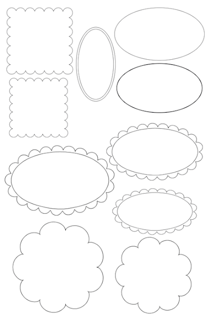 Templates for Labels or Toppers.