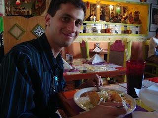 No restaurante mexicano