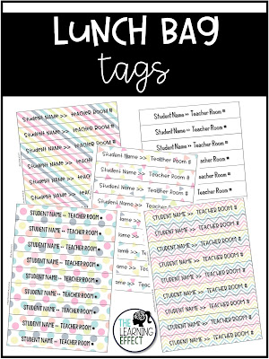 Lunch Bag Tags download