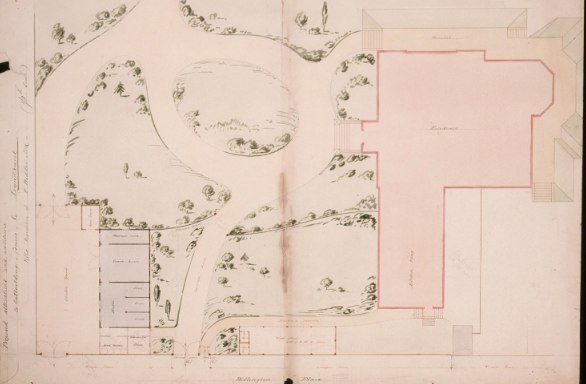 Proposed Alterations . . . to 'Lyndhurst' villa residence of F. Widder, Esq., ca. 1854, Cumberland & Storm