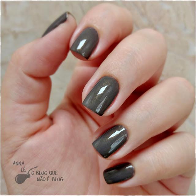 Cinza Luxo Preta Gil Esmalte Nailpolish Unhas Nails