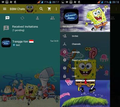 BBM Themes Animasi Spongebob 3.2.5.12 Apk