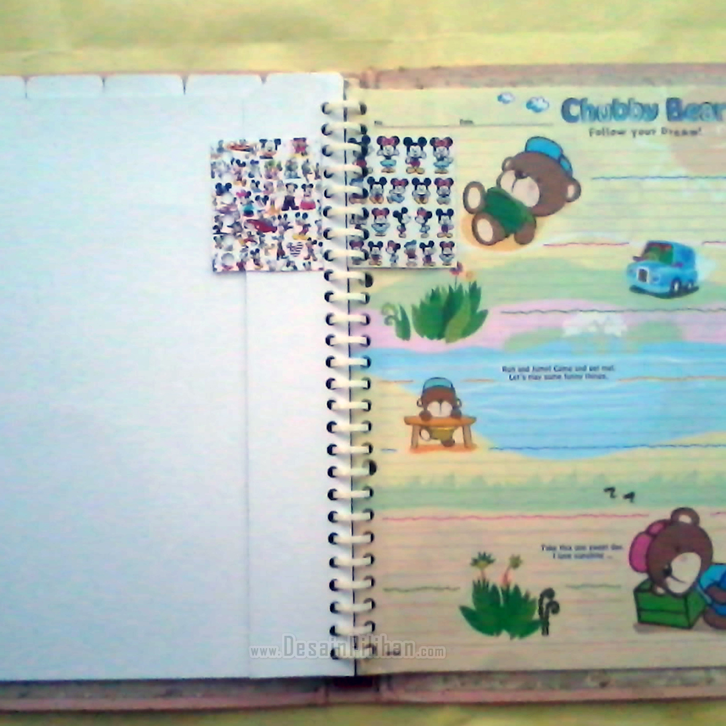 MINI DIVIDER BINDER CUSTOM, PEMBATAS BINDER MINI MINNIE MICKEY MOUSE