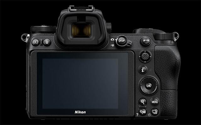 Kamera Nikon Z6 bagian belakang