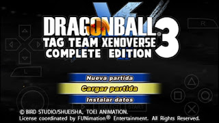 DRAGON BALL TENKAICHI TAG TEAM STYLE XENOVERSE 3 + MENU PERMANENTE DBZ TTT DOWNLOAD
