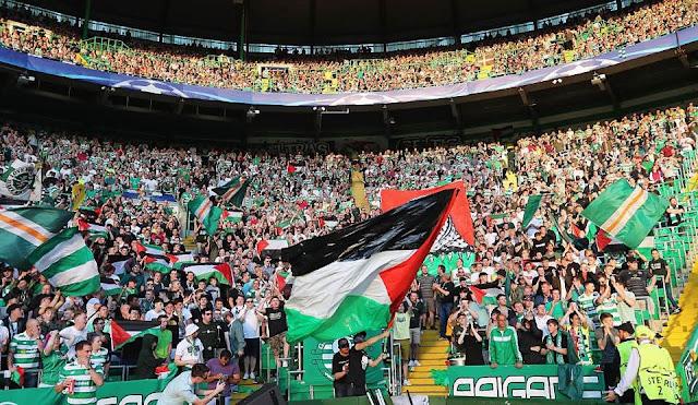 bendera Palestina di Celtic park