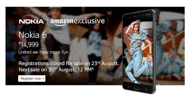 Nokia 6 Amazon.in Sale