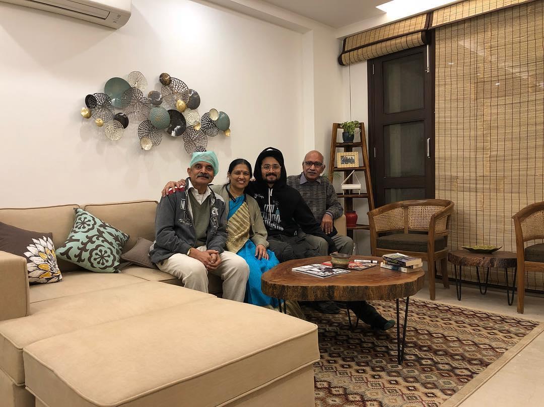 Bhuvan Bam With His Family Members