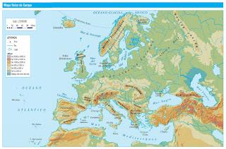 Resultado de imagen de relieve de europa