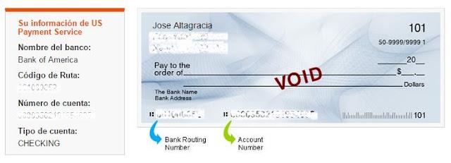 información que se necesita para llenar datos de pagos