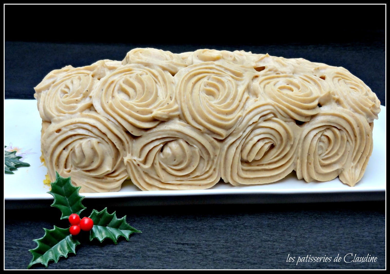 Les Patisseries De Claudine Buche De Noel A La Creme De Marrons