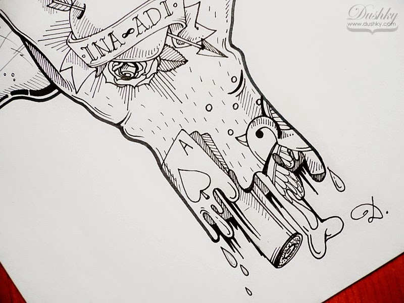 rock hand illustration