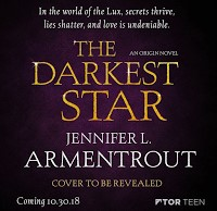 Sinopsis Revelada - The Darkest Star - Saga Origin #01 - Jennifer L. Armentrout