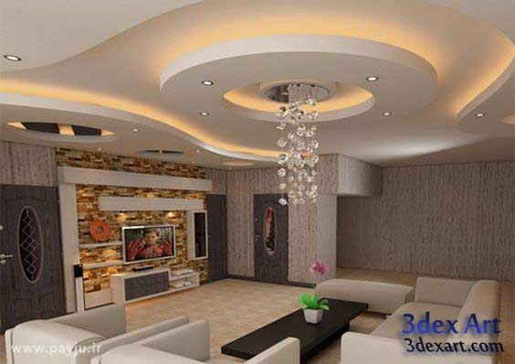 Latest false ceiling designs for living room and hall 2018 for Living hall design ideas