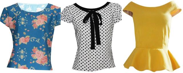 Blusas floral, de bolinhas e peplum-ideal para usar no dia dos namorados
