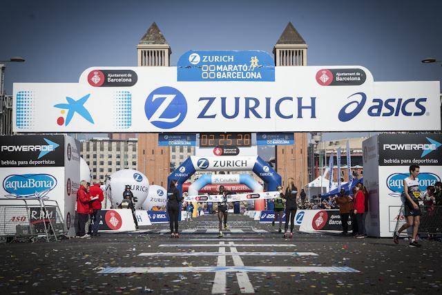Valary Jemeli ganadora de la Zurich Marató Barcelona 2016