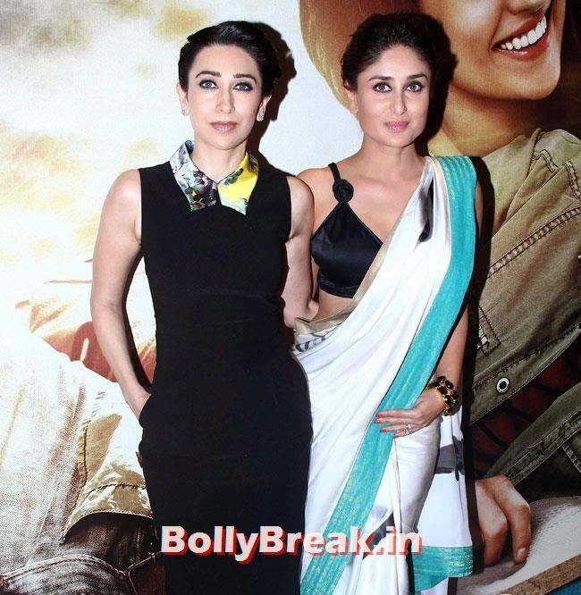 Karisma Kapoor and Kareena Kapoor, Kareena, Karishma, Deeksha at Lekar Hum Deewana Dil Music Launch