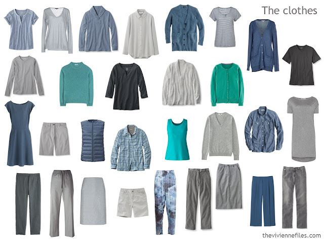 How to evaluate a capsule wardrobe with a grey based color palette