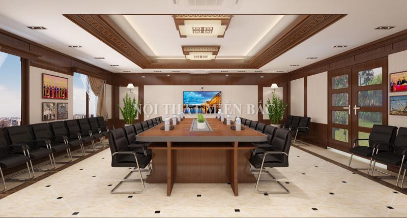 Tư vấn thiết kế phòng họp với bàn ghế cao cấp