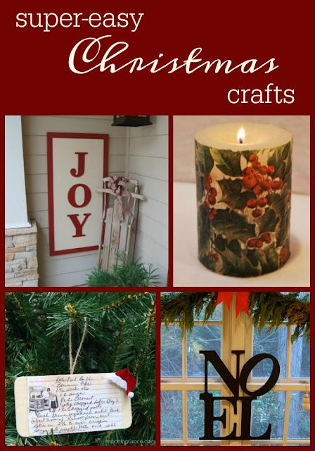 Easy to make crafts fro Christmas decorating