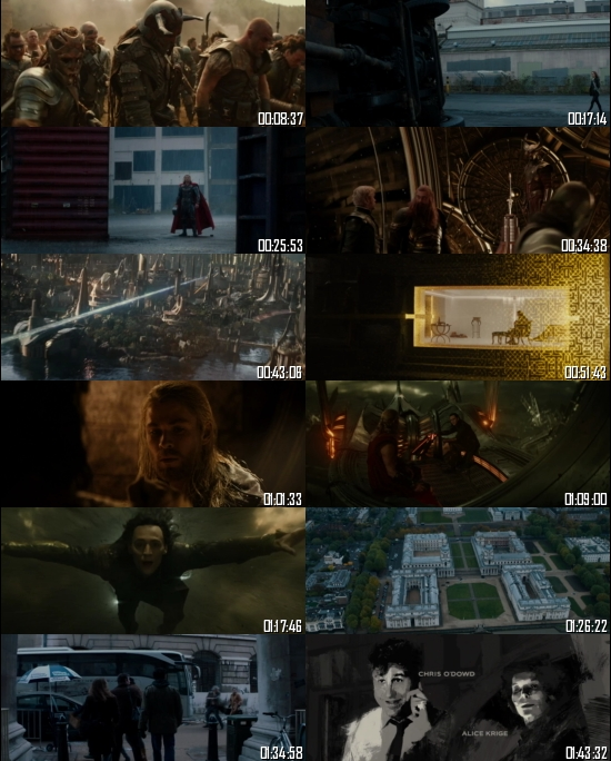 Thor The Dark World 2013 BRRip 720p 480p Dual Audio Hindi English Full Movie Download