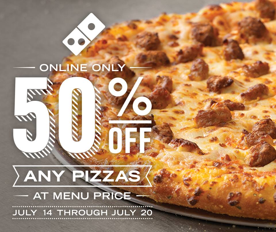 News: Domino's - Online-Only Deal for Half-Off Any Pizza ...