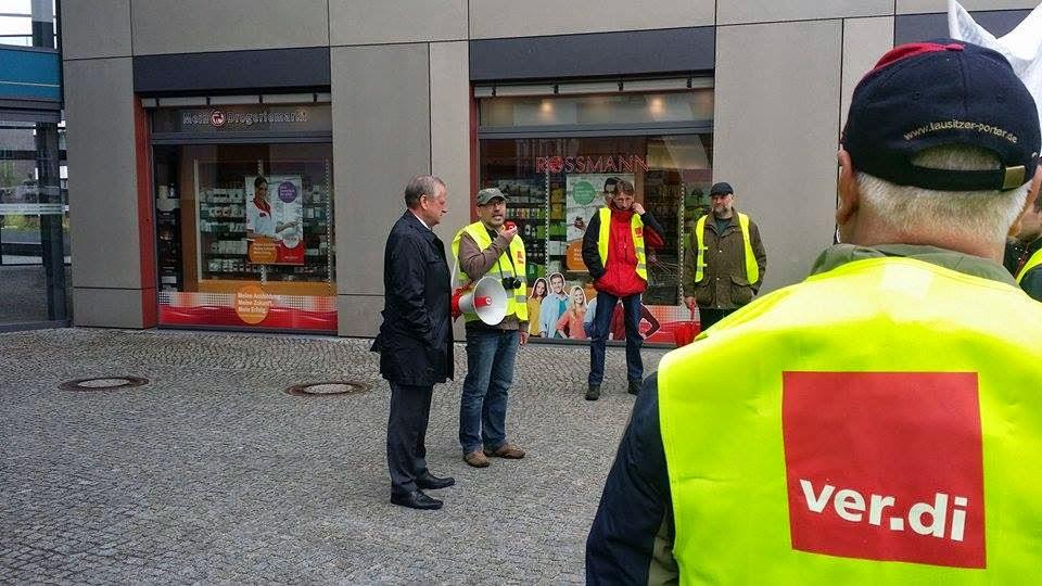 Streik: Barnimer Busfahrer machten heute ihrem Unmut Luft -