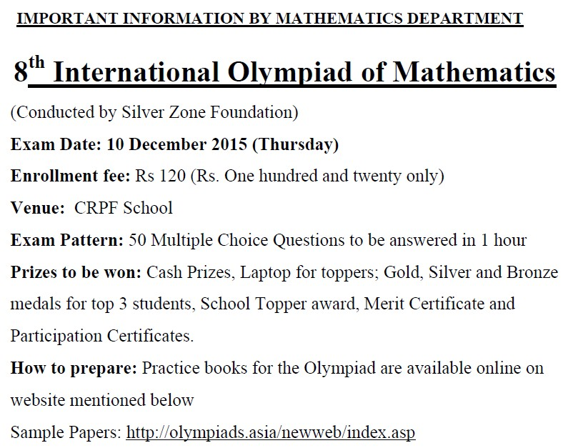 WELCOME TO THE EXCITING WORLD OF MATHEMATICS 2015 - merit certificate comments