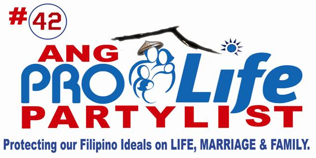 109 ANG PRO-LIFE PARTYLIST: # 42 ANG PROLIFE PARTYLIST
