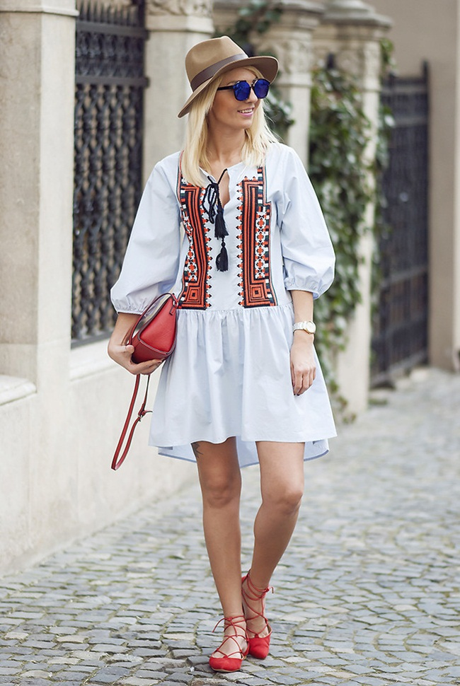 H&M 2016 Spring Embroidered Cotton Dress