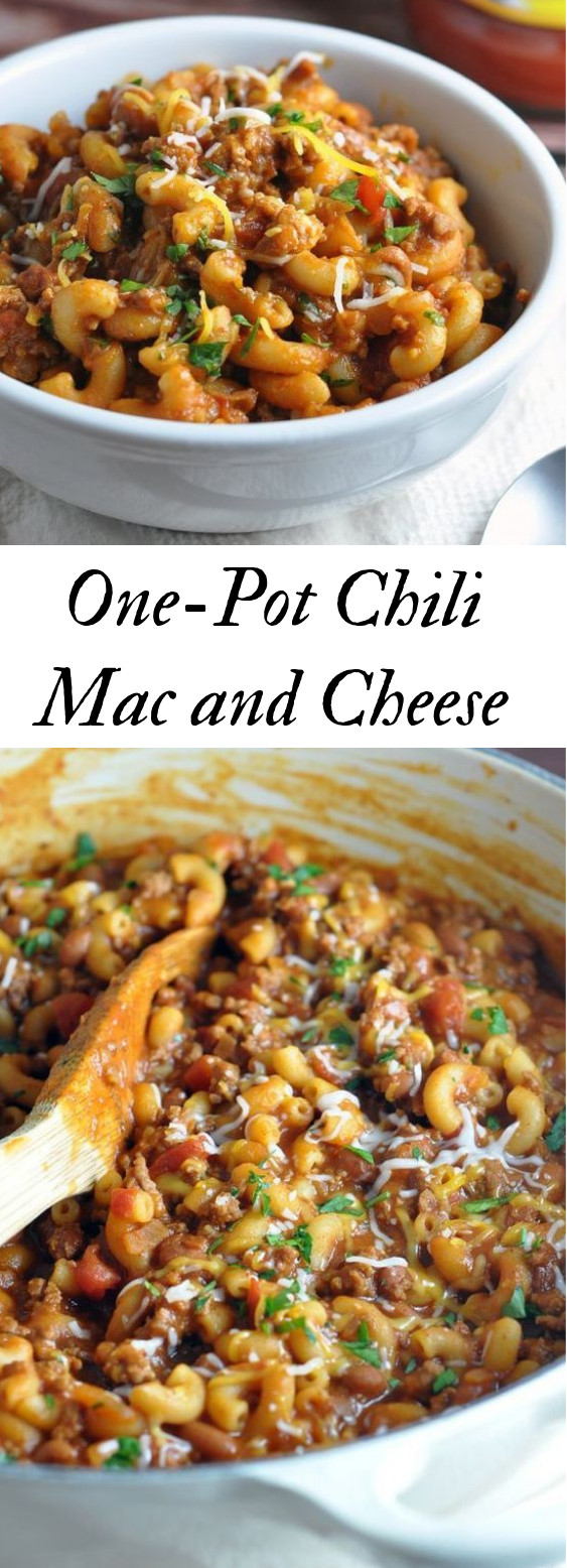 ONE POT CHILI MAC AND CHEESE #dinner #healthyeat