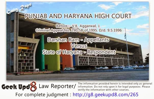 Punjab Haryana High Court - Husband committing intercourse with his wife without her consent - Husband is guilty of offence of Rape