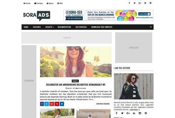 BloggerのSORA ADSという無料テンプレート