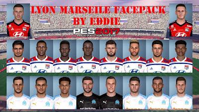 PES 2017 Lyon & Marseille Facepack by Eddie Facemaker