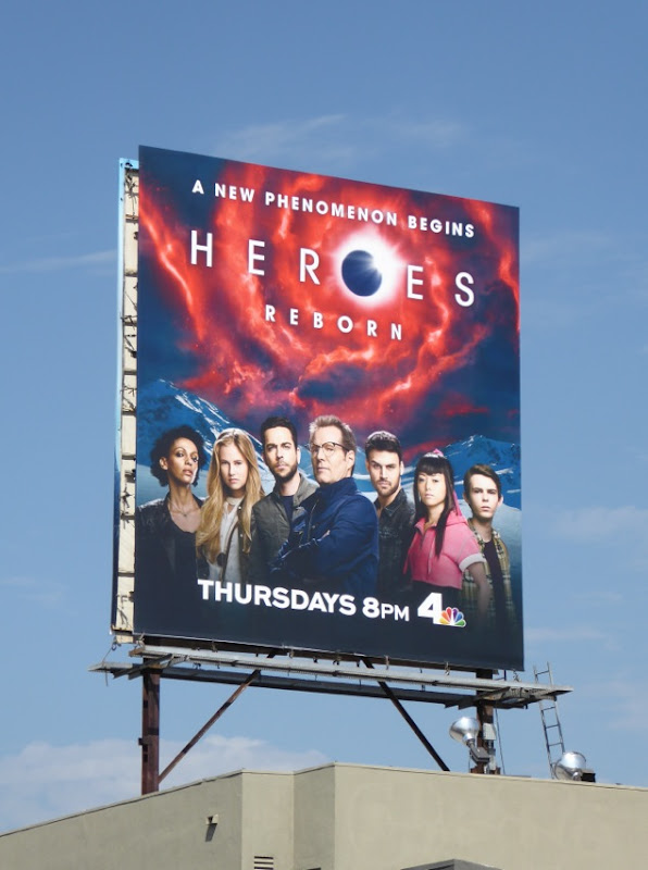 Heroes Reborn TV billboard