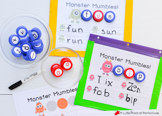 preschool phonics monster printable
