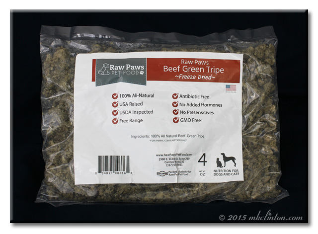 RawPaws Beef Green Tripe package