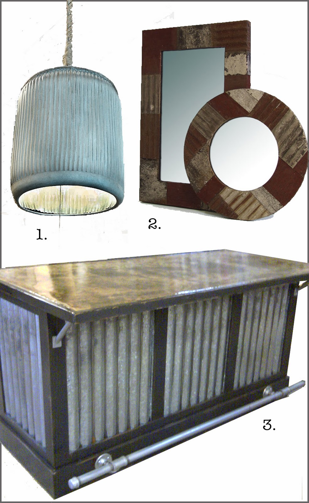 Corrugated Metal Kitchen Island Seibels Cottage: Rustic Bling!