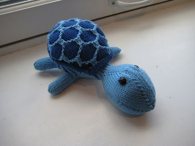 Small Blue Sheldon the Turtle